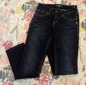 Silver Denim Jeans Suki Straight Leg. 32L/ 26W